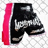 FIGHTERS - Thaibox Shorts / Elite Muay Thai / Schwarz-Pink / Medium