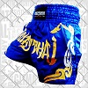 FIGHTERS - Muay Thai Shorts / Blau-Gold / Large