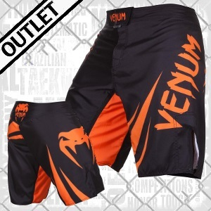 Venum - Fightshorts MMA Shorts / Challenger / Schwarz-Orange / Small